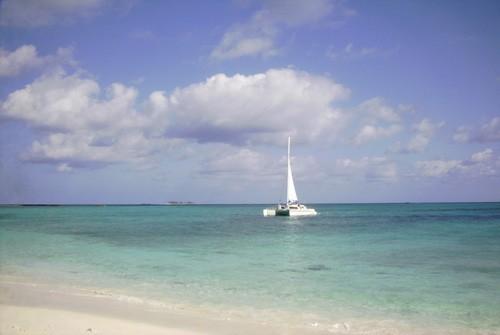 Anchored off Rose Island