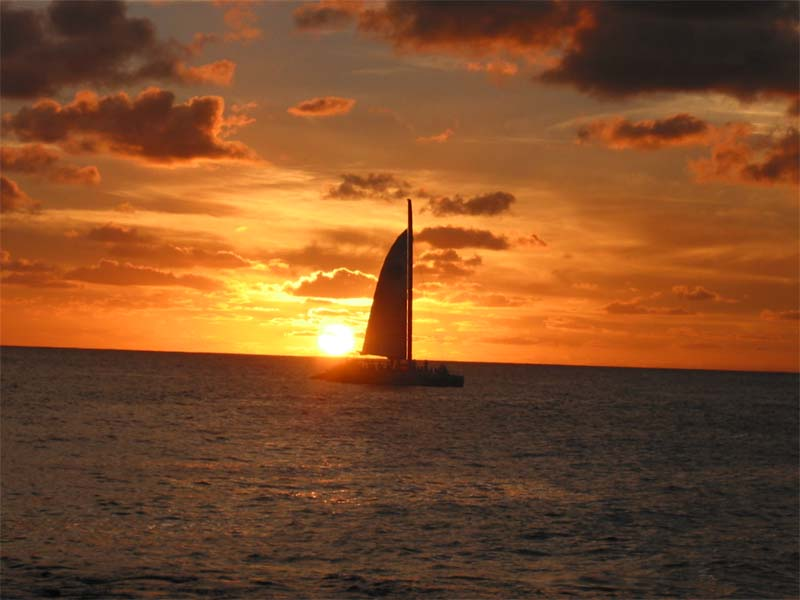 Sail off into the sunset
