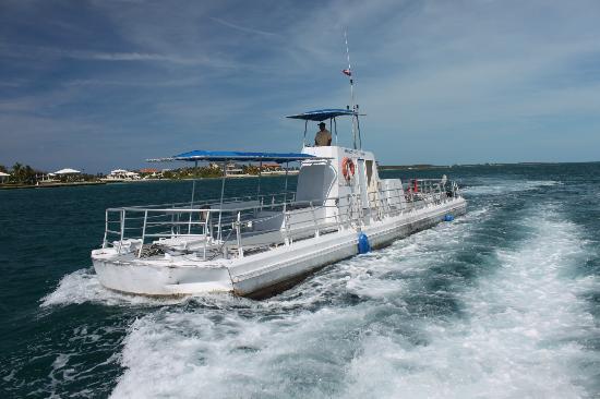 The Explorer cruising in to Nassau harbour